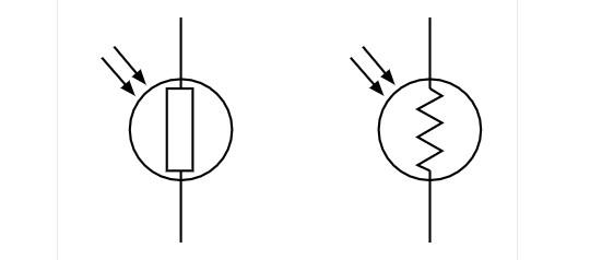 Simbol LDR atau Photoresistor