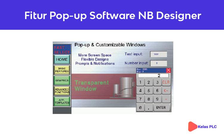 Fitur Pop- up & Customize Windows software NB Designer