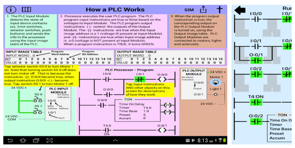 PLC Simulator, Mechatronics, PLC ladder Logic Apps
